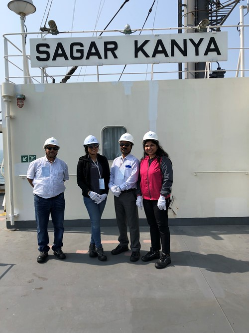 Team Picture from vessel visit to Sagar Kanya