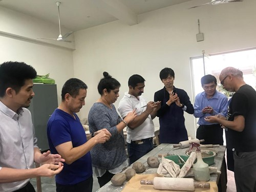 Team Building Activity: Ceramic Workshop participated by team members